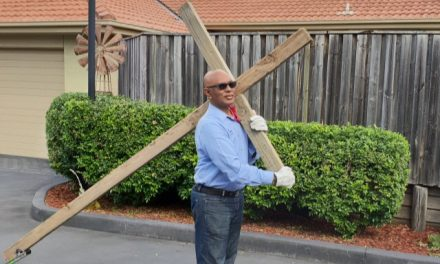 Hunter Pastor taking up his cross in the lead up to Easter