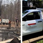Cleaning up in bush fire affected areas