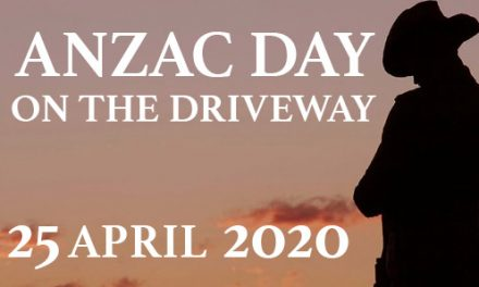 Anzac Day on the Driveway